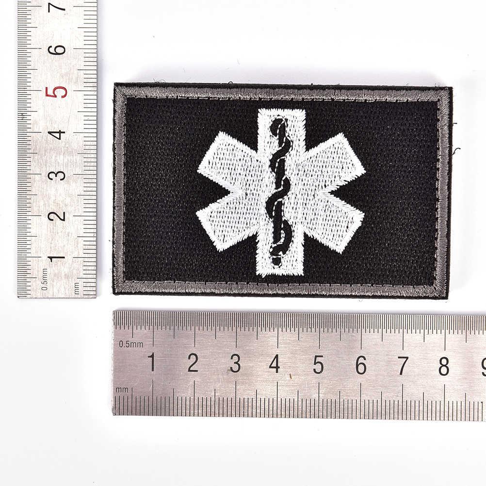 Técnico médico de emergencia técnico médico EMT parches bordados militar táctico brazalete gancho y lazo insignia insignias parche bordado