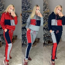 2019 Casual Autumn Winter Suit New Fashion 2Pcs Women Ladies Clothing S
