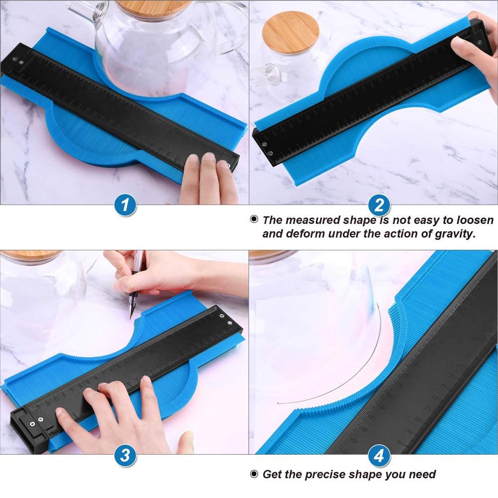 Contour Gauge 12/25cm Irregular Profile Gauge Ruler For Accurate Measurement SP99