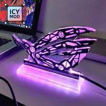 A-RGB rog figura crença decoração 5v3pin república dos jogadores led arco-íris iluminação aura sincronização personalizado mod acrílico painel de iluminação