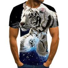 T-shirt manches courtes col rond pour homme, été 2020, imprimé avec animaux, hip hop, taille 110-6XL, t-shirt style décontracté