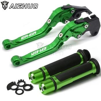 CNC Aluminum Motorcycle Accessories Brakes Clutch Lever & Handle Grips for kawasaki ER6N ER 6N ER6 N 2009-2017 2015 2016 2014