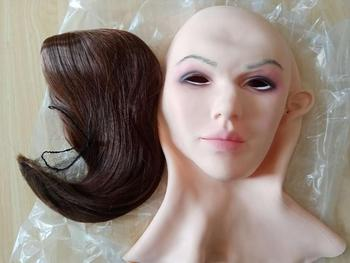 Realistic Beatrice Face Mask Soft Silicone Female Mask for Masquerade Halloween Mask For Crossdresser Drag Queen Transgender 3G  - buy with discount