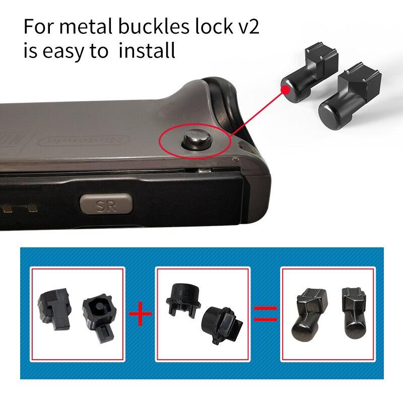 Joycon, herramienta de reparación de hebilla deslizante izquierda derecha, piezas NS JoyCon, soporte de bloqueo de Metal para Nintendo Switch Joy-Con, controlador