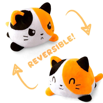 Kids Soft Gift Cat Plush Animals Children Double-Sided Flip Doll Soft Reversible Cute Plush Toys peluches toys image