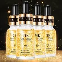 24k ouro rosto hidratante anti-rugas óleo-controle anti-envelhecimento clareamento do psiquiatra poro pele clareamento soro tslm1