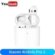 Оригинальные Bluetooth наушники Xiaomi Airdots Pro 2, TWS наушники Air 2 Mi, настоящая беспроводная гарнитура 2, интеллектуальное Голосовое управление, LHDC стерео двойной микрофон