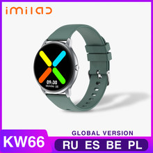 KW66 reloj inteligente Bluetooth 5,0 pulsera inteligente reloj deportivo de seguidor de actividad/deporte IP68 impermeable reloj inteligente