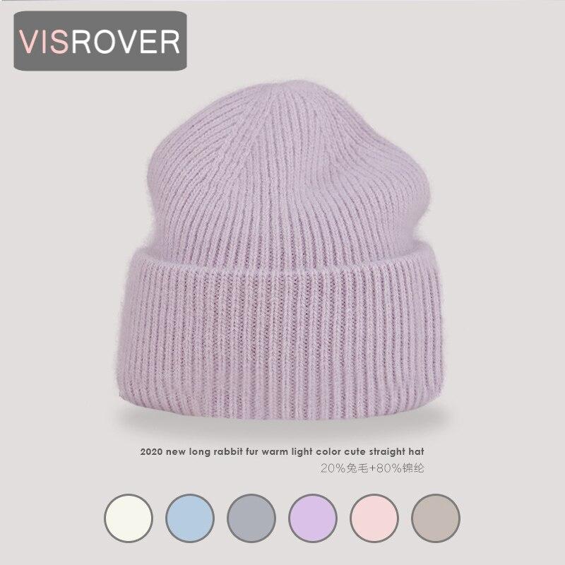 VISROVER 9 Цвет s однотонные носки подходящие для детей обоих полов, Цвет с натуральным кроличьим мехом шапки бини шапки зимняя шапка для женщин ...