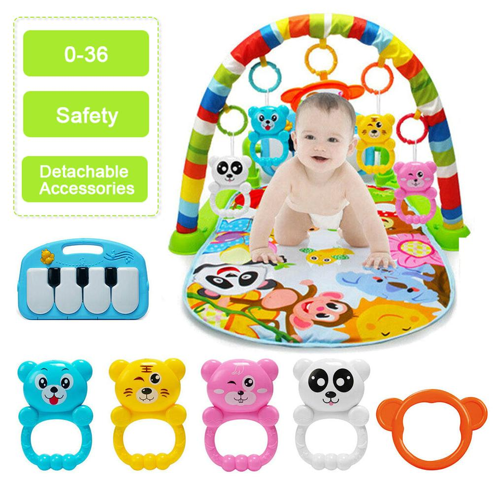 4 In 1 Baby Play Mat Kids Rug Educational Puzzle Carpet With Piano Keyboard And Cute Animal Playmat Baby Gym Crawling Toys