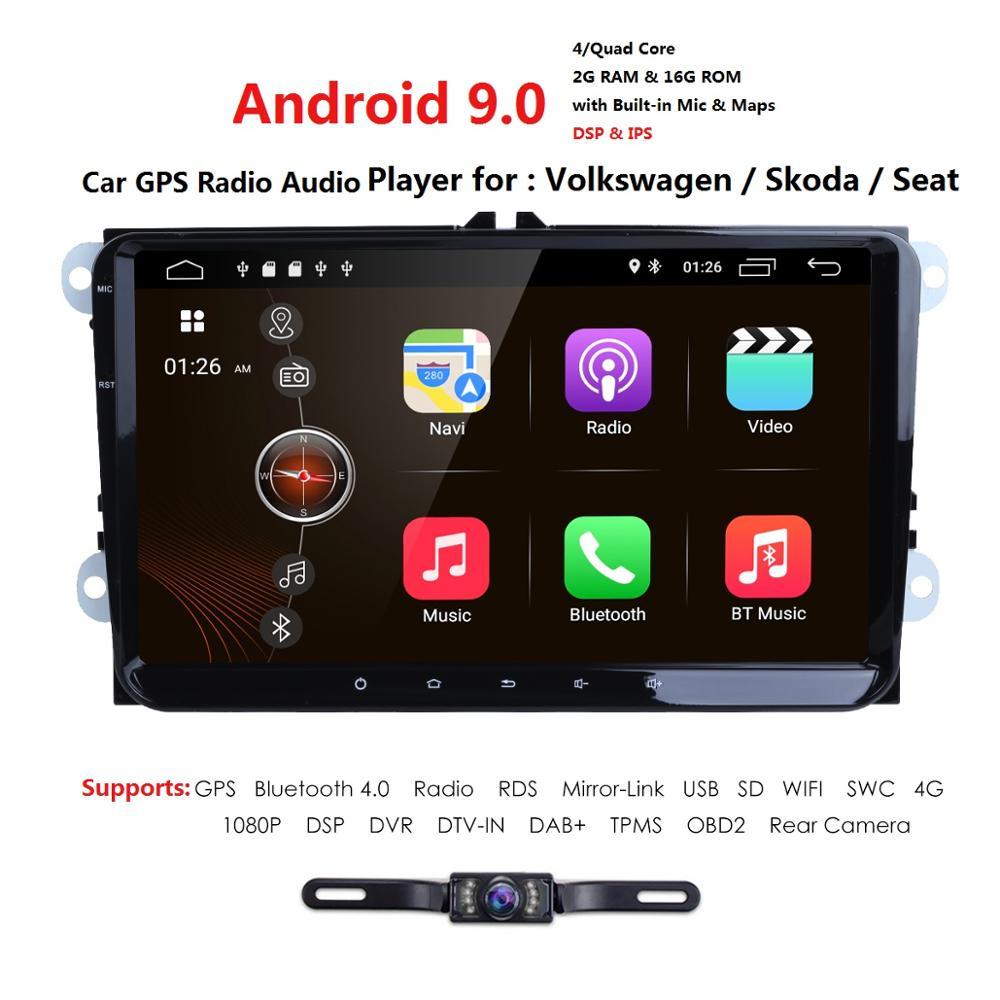 2G 16G 2din Android 9 0 Car No Dvd For VW Passat B5 B6 Golf 4