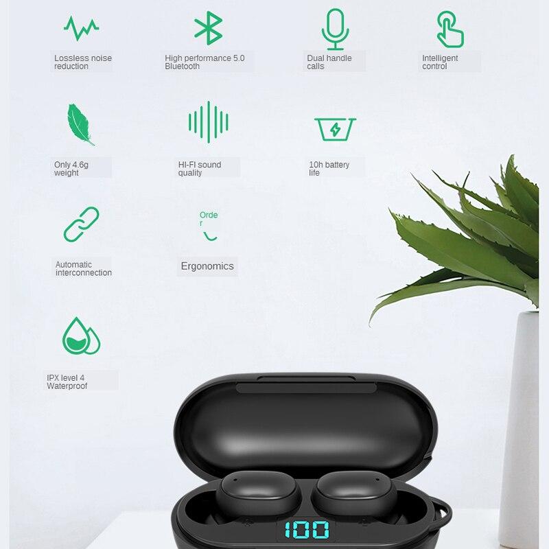Мини смарт спорт Bluetooth-гарнитура бинауральные колл автоматическое соединение водонепроницаемый небольшой