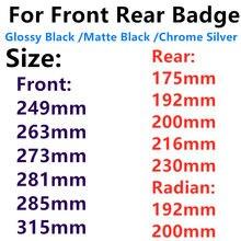 Logotipo preto brilhante do emblema para audi a3 a4 a4l a6l tt q3 q5 q7 a5 a7 rs3 rs4 rs5 rs6 frente meio anéis grade crachá tronco adesivo