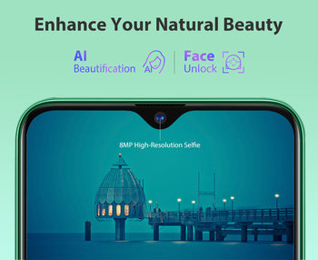 Blackview A80 Plus Mobile Phone Octa Core 4GB RAM+64GB ROM 13MP Quad Rear Camera 6.49 Inch Waterdrop Smartphone 4G Cellphone 4