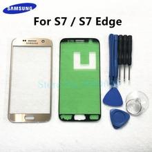 Сменное внешнее стекло для Samsung Galaxy S7, G930, S7 Edge, G935, ЖК дисплей, сенсорный экран, фронтальный Внешний стеклянный объектив