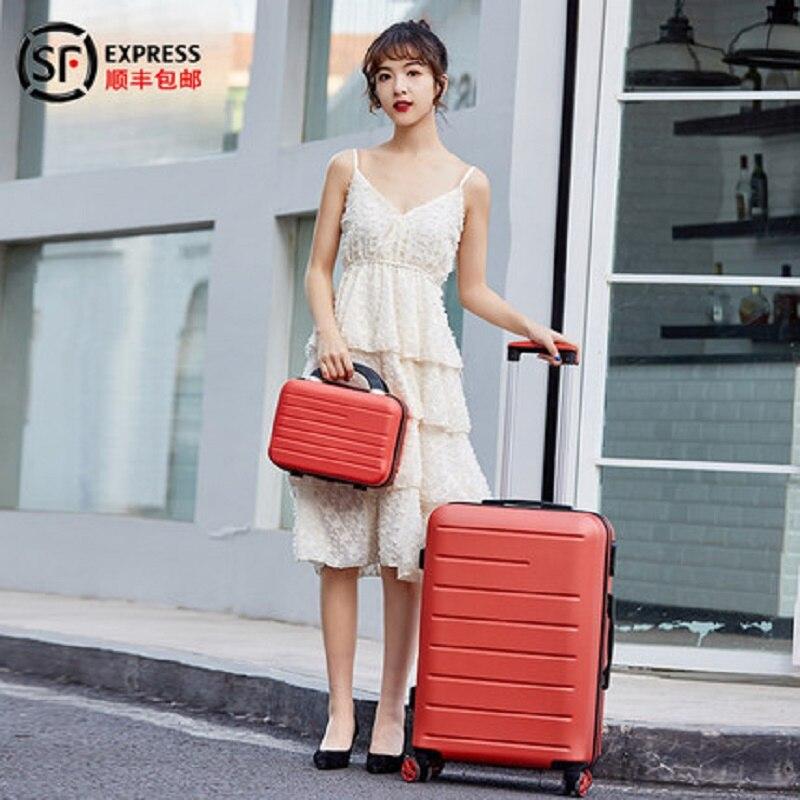 LeTrend Farbe streifen muster Roll Gepäck Spinner 24 zoll Koffer Räder 20 inch Frauen Tragen auf Trolley Reisetasche Stamm - 5