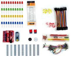 Uno r3 stem kit robô componente eletrônico básico starter robótico kit educação designer cabo resistor capacitor led