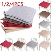1/2/4 Uds. Cojín antideslizante para asiento de sofá, Cojín cuadrado de Color sólido para asiento, cojín de Silla, almohada suave para sillas de Padchair de 40x40cm