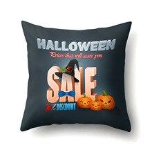 Halloween Peach Cashmere Cushion Cover 45x45cm Creative Pumpkin Pillow Case Bat Happy Party Decoration Skull PillowCase