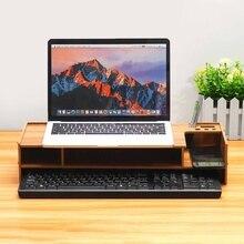 Деревянная полка, многофункциональная настольная подставка для монитора, компьютерный экран, стояк для ноутбука, крепкая подставка для ноутбука, подставка для ноутбука, телевизора