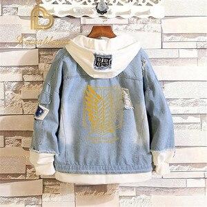 Image 3 - Распродажа, джинсовая куртка «атака на Титанов», джинсовая куртка для косплея разведчика, джинсовая куртка, Осень зима
