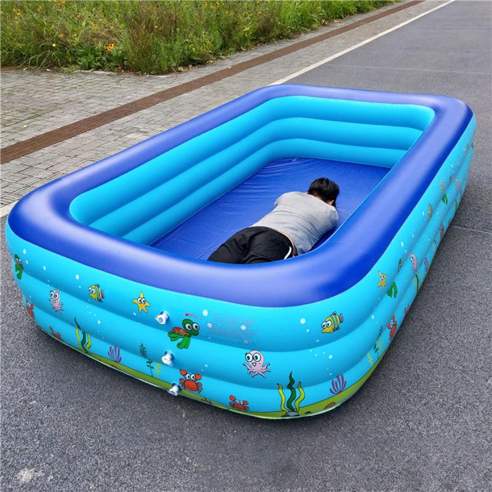 Inflatable Children Swimming Pool Large Size Inflatable Square Portable Outdoor Baby Basin Bathtub Kids Pool Baby Swimming Pool4