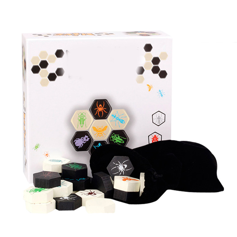 Hive 2 jogadores engraçados jogo de tabuleiro, colmeia, jogo de tabuleiro para família/festa/amigo, enviar presente para crianças