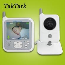 TakTarkไร้สายขนาด3.2นิ้วสีเด็กNight LightแบบพกพาBaby Nanny Securityกล้องIR LED Night Vision Intercom