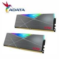 ADATA XPG SPECTRIX D50 DDR4 RGB módulo de memoria 8G 16G (2x8GB) 32GB (2x16GB) PC4 LED 3600MHz PC de escritorio memoria Grey