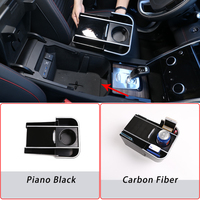 For Land Rover Discovery Sport 2020 ABS Black Car Center Storage Box Phone Holder Glove Armrest Box Storage Box Car Accessories