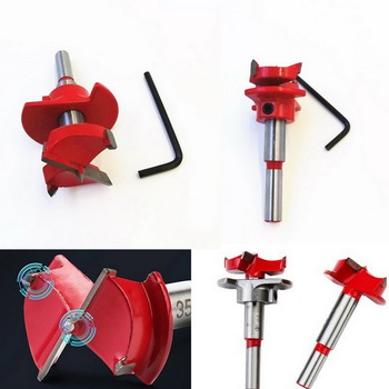 цена на 35mm  High Quality Locating Drill Auger Drill Bit Wooden Wood Cutter Hex Wrench Woodworking Hole Saw For Power Tools