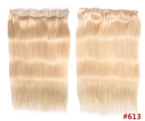 Человеческие волосы для наращивания на заколках, прямой Бразильский светильник, темно-коричневый #1 # 1B #4 #8 #613 блонд #27 #32 Remy 80g 100g 120g