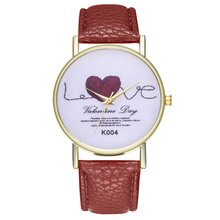 Women Love Quartz Watch Leather Strap Quartz Watch