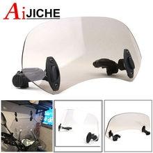 Déflecteur de vent universel pour moto et Scooter, Clip réglable sur le pare-brise, Extension de Spoiler, verrouillable