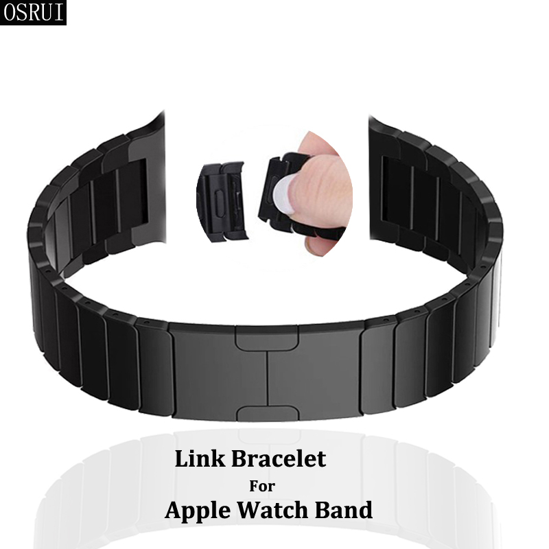 link bracelet Strap for <font><b>Apple</b></font> <font><b>Watch</b></font> band <font><b>42mm</b></font> 38mm correa iwatch 4 44mm 40mm 4 3 <font><b>2</b></font> 316L stainless steel <font><b>pulseira</b></font> accessories image