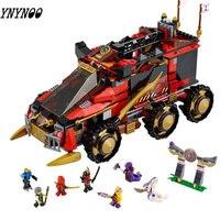758 Pcs Ninja Mobile Command Center Bricks Compatible Legoings Ninjago Model Building Blocks Boys Gifts Toys For Children
