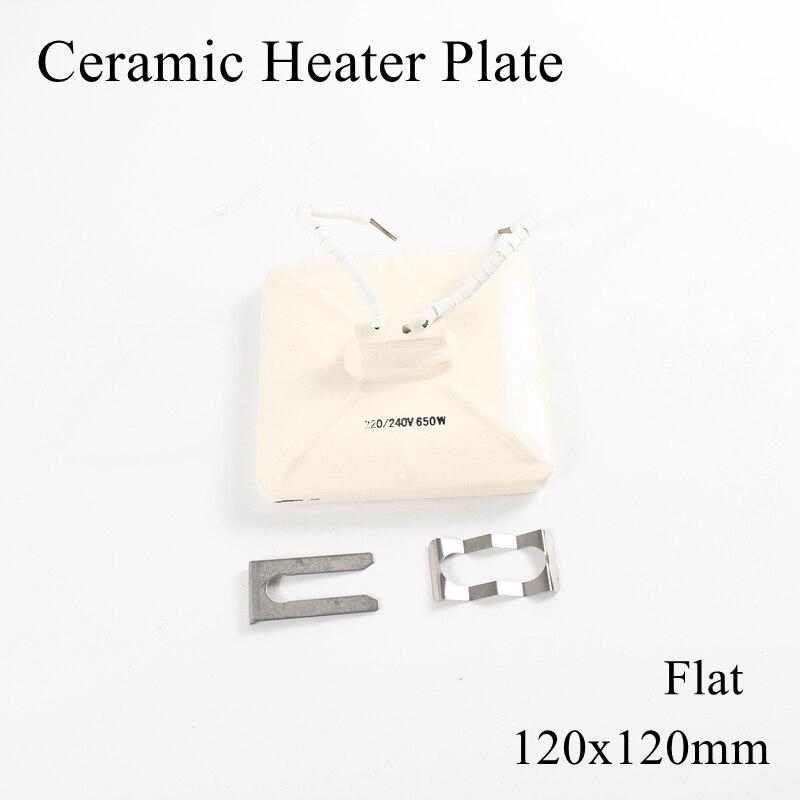 1 pc/lote 120x120mm 400 ~ 650 w placa de aquecimento de ar superior infravermelho aquecedor de cerâmica para estação de retrabalho bga pet lâmpada com clipe de metal