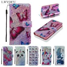 Luxury leather flip cover for Huawei P20 lite Y6 Y7 2019 P30 Mate 20 Lite Pro P Smart  Nova 5i Z phone case
