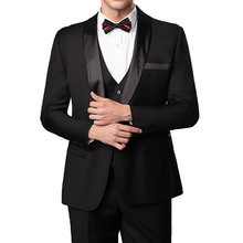 Tailor made Formal Mens Suits Slim fit for Dinner Prom Party Custom 3 piece Male Set Jacket Pants Vest New Wedding Groom Tuxedo