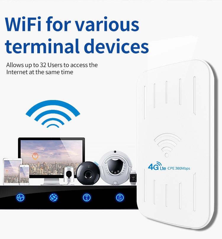 Huasifei-roteador wi-fi para áreas externas, 300mbps, repetidor
