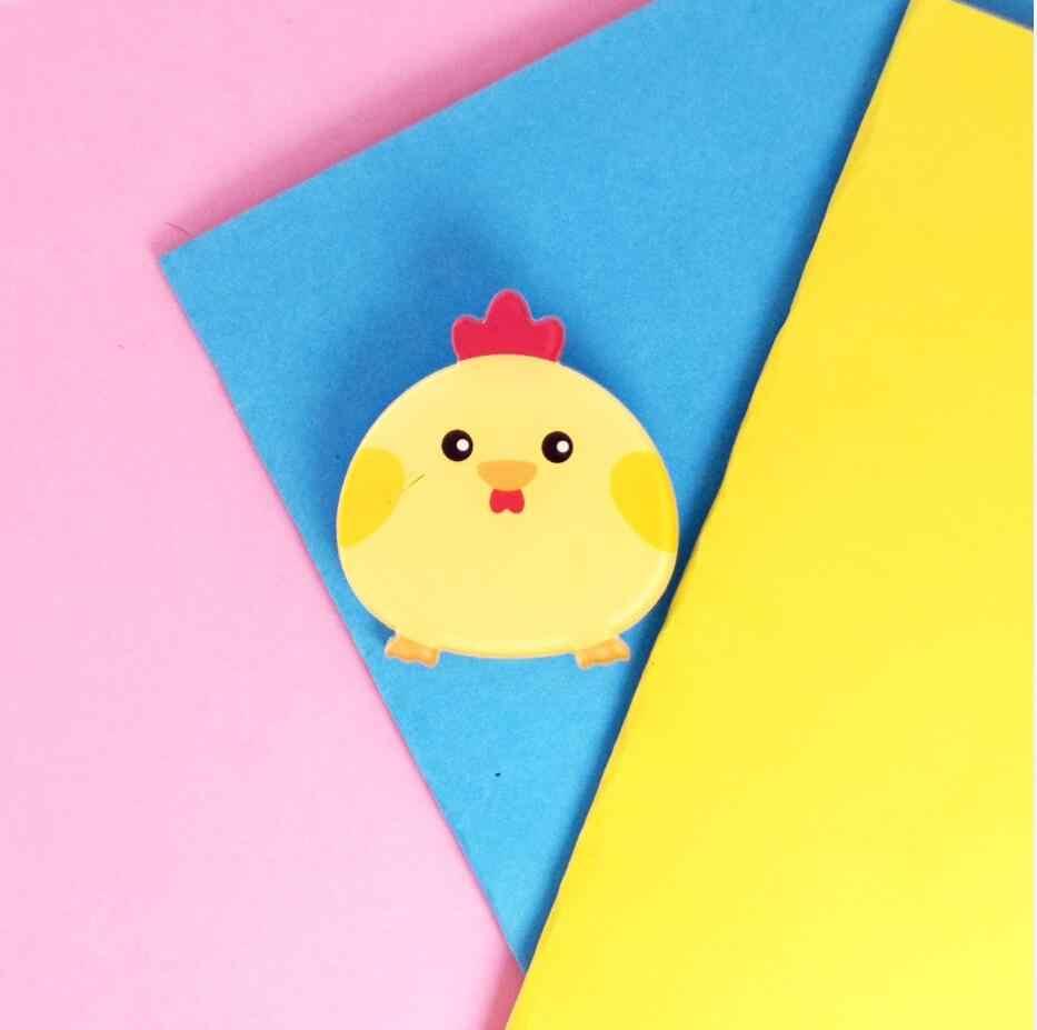 Bros untuk Wanita Fashion Gadis Koleksi Pria Anak Bros Pin Lencana Lucu Bulat Rusa Ayam Anjing Hewan Manis Anak Hadiah indah