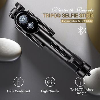 Bluetooth Remote Tripod Selfie Stick Portable Original Foldable Monopod With Wireless Button Shutt