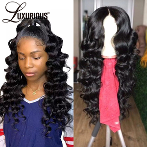 Image 4 - Glueless Pre Plucked 13*4 Lace Front Human Hair Wigs With Baby Hair Brazilian Remy Hair Deep Wave Lace Front Wig Bleached Knots