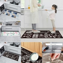 Anti-skid Bathroom  Mat  PVC  Entry Doormat Area  Rug  Kitchen  Restroom Bedroom Floor Area Floor Mat Home Decor  D20 vintage printing anti skid indoor outdoor area rug
