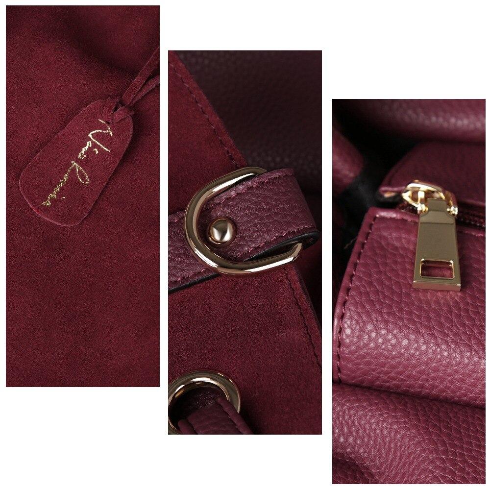 Nico Louise femmes réel Split daim cuir sac fourre-tout, nouveau loisirs grand Top-poignée sacs dame décontracté bandoulière sac à main - 4