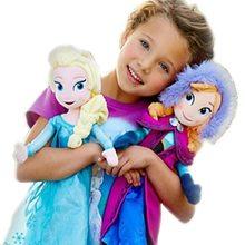 40/50cm princesa anna elsa bonecas neve rainha princesa anna elsa boneca brinquedos crianças brinquedos presentes de natal recheados brinquedos de pelúcia