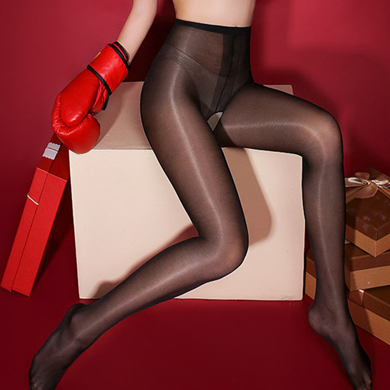 Shiny Sexy Open Crotch Tights Women Female Crotchless Tights Stretchy Seamless Pantyhose Stights Collant Femme Lingerie