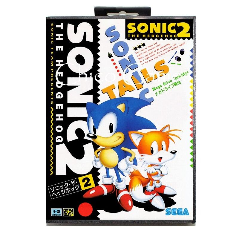 Sega Md Games Card Sonic The Hedgehog 2 Jap Cover For Sega Megadrive Video Game Console 16 Bit Md Card Memory Cards Aliexpress