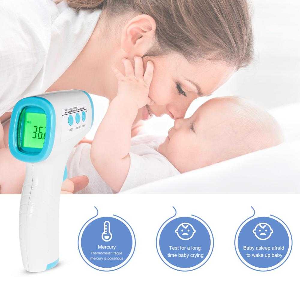 Digital Infrared Forehead Ear Thermometer Uncontact Temporal Thermometer Mater Instant Accurate Reading Tools