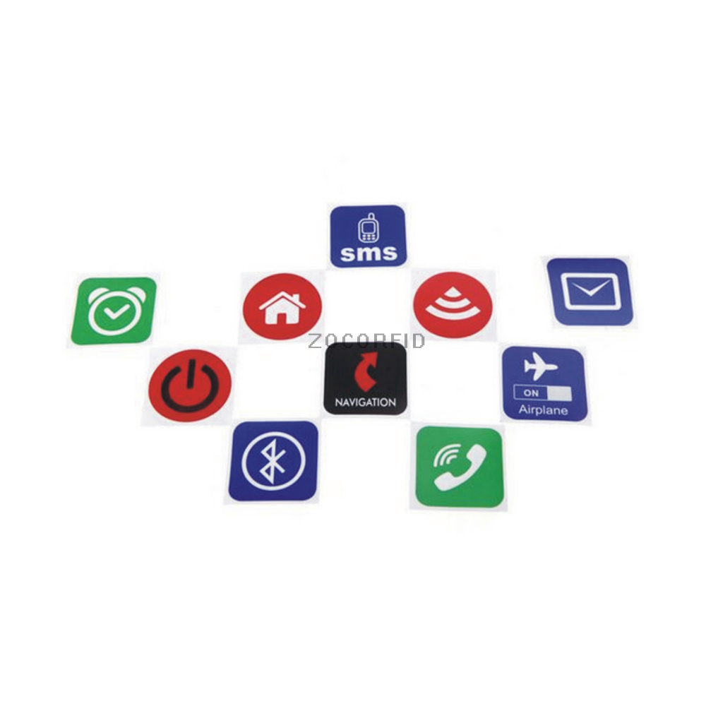 Free Shipping 10pcs Universal Smart NFC Tag NTAG213 NFC Sticker For For Samsung Nokia Sony All Others Nfc Android Phone